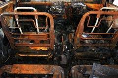 Drogowy wypadek uliczny, samochodu ogień zdjęcie royalty free