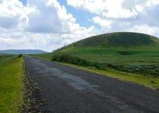 Drogowy zbliżenie transgraniczny osadniczy Moiale. Afryka, Etiopia Zdjęcie Stock