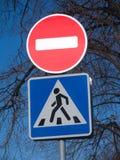 drogowy znaków przerwy ruch drogowy spacer Obrazy Royalty Free