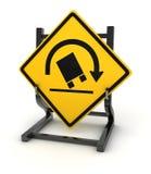 Drogowy znak - Ciężarowy trzask ilustracji