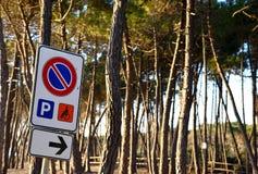 Drogowy znak dla kierowcy Obraz Royalty Free
