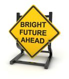 Drogowy znak - jaskrawa przyszłość naprzód ilustracji