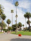 Drogowy znak na chodniczku, Melbourne Fotografia Royalty Free