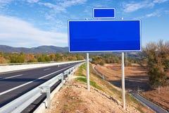 Drogowy znak wzdłuż autostrady Obraz Stock
