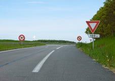 Drogowy zwrot autostrada Obrazy Royalty Free