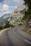 Drogowy zwrot w górach Zdjęcie Royalty Free