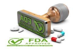 Drogues approuvées par le FDA Image libre de droits