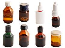 Drogues dans des bouteilles en verre Photo libre de droits