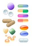 Drogues de couleur Photographie stock