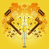 Drogues et mort Image libre de droits