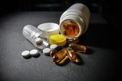 Drogues et pillules Photo stock
