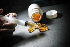 Drogues et pillules Photo libre de droits