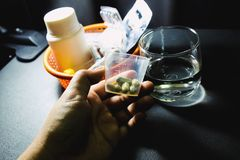 Drogues et pillules Image libre de droits