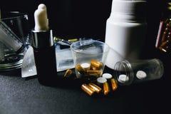 Drogues et pillules Images libres de droits