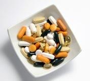 Drogues et vitamines Photos libres de droits