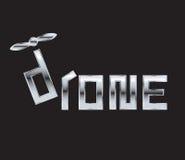 Drohne Logo Concept Design Lizenzfreies Stockfoto