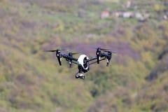 Drohnenfliegen Stockfoto