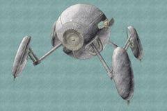 Droid formado esfera ilustración del vector