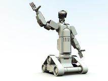 Droid Of The Future. A pair of futuristic robots Stock Photo