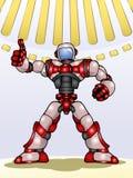 Droid robot thumb up vector illustration