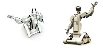 Droids Of The Future. A pair of futuristic robots Royalty Free Stock Images