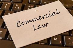 Droit commercial - note sur le clavier dans le bureau photo libre de droits