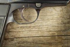 Droit de porter des bras Contrôle de l'armement Détail sur l'arme à feu Endroit pour votre texte Ventes des armes à feu Photographie stock libre de droits
