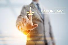 Droit du travail, avocat, avocat, concept d'affaires d'avis juridique sur l'?cran images libres de droits