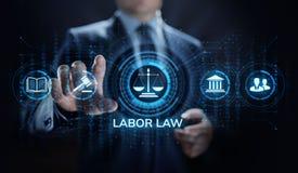 Droit du travail, avocat, avocat, concept d'affaires d'avis juridique sur l'?cran images stock