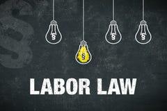 Droit du travail de bannière Image libre de droits