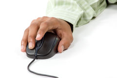 Droite - cliquetez en fonction la souris d'ordinateur Photographie stock libre de droits