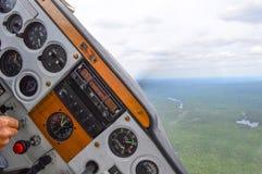 Droite d'avion Photos libres de droits