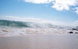 Droite de Sandys de coupure de plage Photo libre de droits