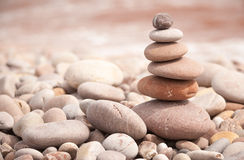Droite horizontale de tour de zen Photo libre de droits