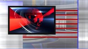 droite virtuelle d'actualités d'ensemble banque de vidéos