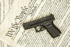 Droites de constitution et d'arme à feu d'Etats-Unis image stock