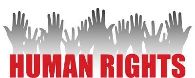 Droits de l'homme Images libres de droits