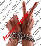 Droits de l'homme Image libre de droits