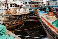 Droits de quai de dhaw, Deira, vieux Dubaï photos libres de droits