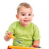 Droll little boy portrait Royalty Free Stock Photography