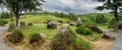Dromagorteen kamienia okrąg w Bonane dziedzictwa centrum, Irlandia obraz royalty free
