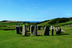 Drombeg Stone Circle, County Cork, Ireland. Mysterious and fascinating Drombeg Stone Circle in the County Cork, Ireland Royalty Free Stock Image