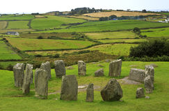 Drombeg Stone Circle in West Cork, Ireland. Stock Photo