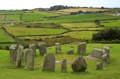 Drombeg Stone Circle in West Cork, Ireland. Stock Photo