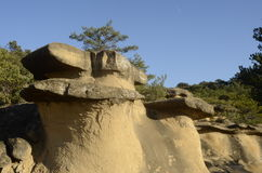 Drome landscape of sand rocks in France Stock Photo