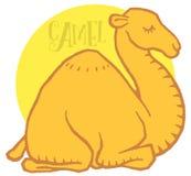 Dromedario sveglio del cammello del fumetto Fotografia Stock Libera da Diritti