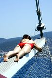 Dromen op een jacht Stock Fotografie