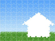 Dromen over huis vector illustratie