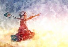 Dromen van reis Illustratie Stock Foto's