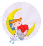 Dromend meisje Stock Afbeelding